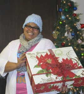 Black woman with gift