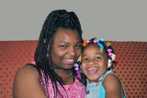 LaSha with her daughter